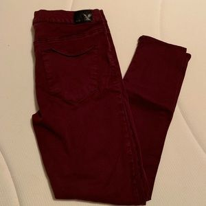 American eagle maroon/burgundy jeggings